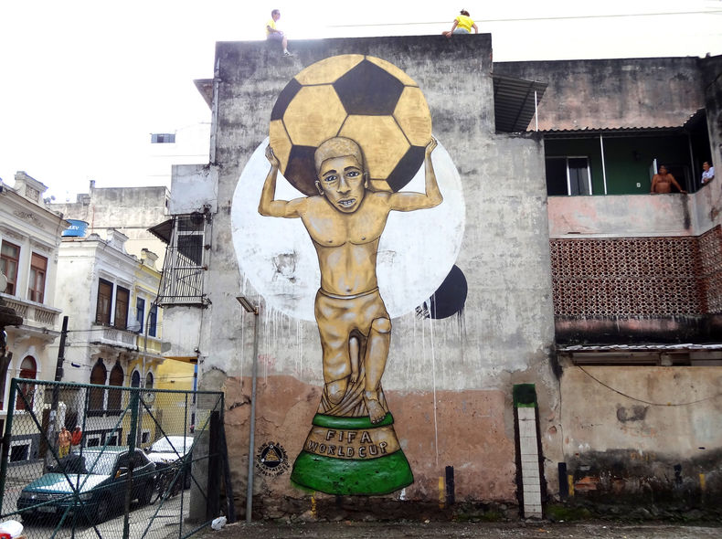 Anti FIFA World Cup corruption mural / Rio de Jainero / soccer world cup 2014